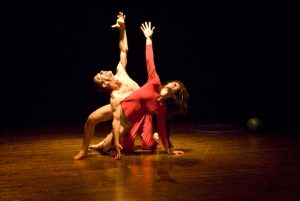 Laura Scutella and Juri Roverato dancing.  Click link to magnify and go to image source.